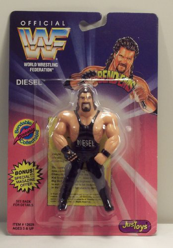 Wwf / Wwe Wrestling Superstars Bend-ems Figure Series 1 Diesel