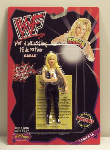 Wwf / Wwe Wrestling Superstars Bend-ems Figure Series 9 Sable