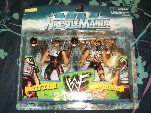 Wwf Wrestle Mania Xv 2 Tuff 3 Lod 200'S Hawk/lod 200'S Animal By Jakks Pacific 1998